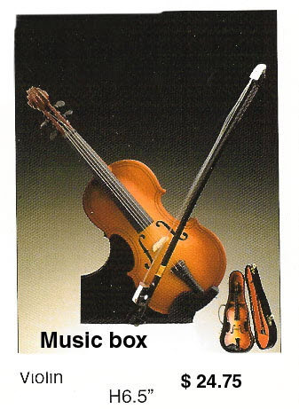 miniature Violin -- music box