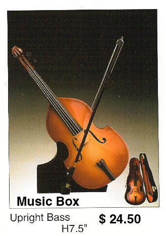 miniature Upright Bass ( Music box )
