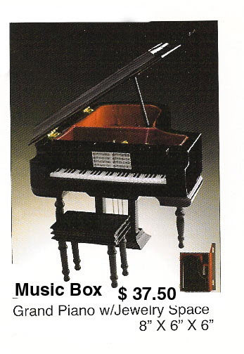 Miniature grand piano ( Jewelry Box ) music box - Click Image to Close