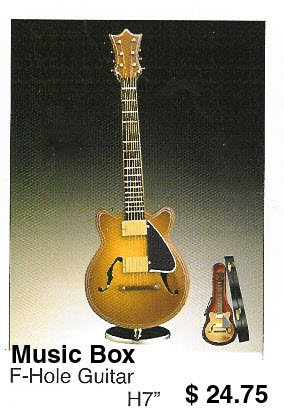 miniature F- Hole guitar ( Music box ) - Click Image to Close