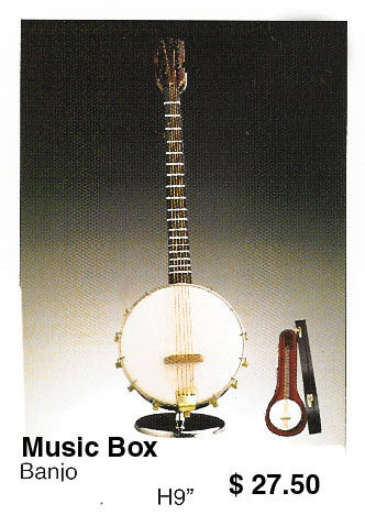 miniature Banjo ( music box ) 5 strings