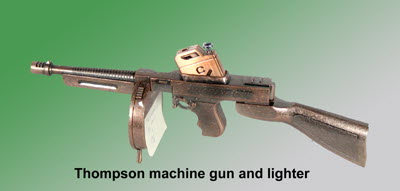 Thompson machine gun lighter - Click Image to Close